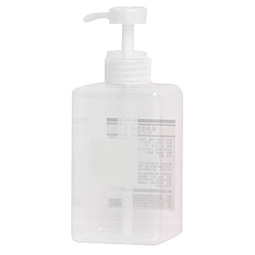 jinanshiCathy Oliver Reise Flaschen,450ml Quartet Lotion Flasche Pressflasche Travel Cosmetic Sub-Bottle(Transparent)