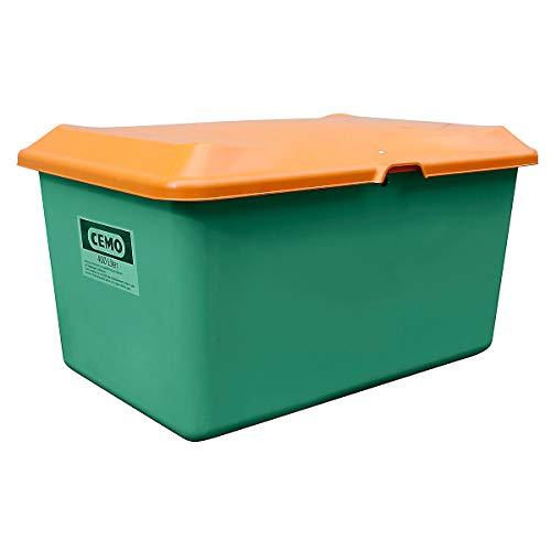 CEMO Streugutbehälter aus GfK - Volumen 400 l, ohne Entnahmeöffnung, Behälter grün - Kunststoff-Behälter Mehrzweckbehälter Schüttgutbehälter Streugutbehälter GfK-Behälter Behälter für Streugut Großbehälter Kunststoff-Behälter Mehrzweckbehälter