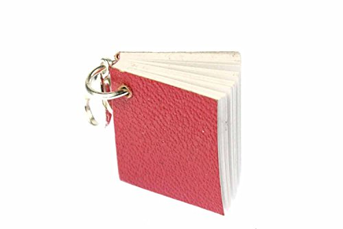 Miniblings Buch Bücher mit Seiten Charm - Handmade Modeschmuck I Anhänger Bettelanhänger für Armband I Kettenanhänger versilbert - Lesen Leseratte rot