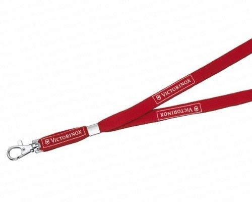 Victorinox V41879 Cinta para el Cuello, Acero Inoxidable, Rojo, M