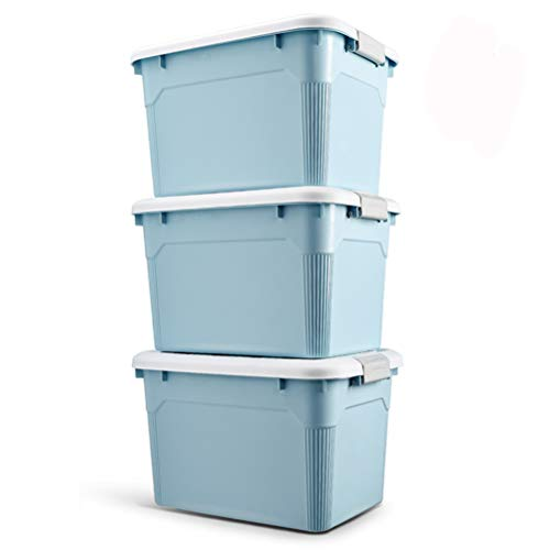AQSG Boîte de Rangement, Paquet de 3 boîtiers en Plastique avec loquet Ultra