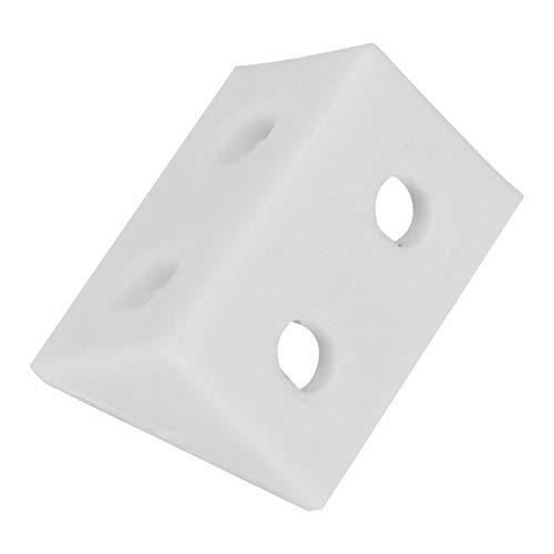 FEANG Protector de esquina, 50 piezas, ángulo recto, código de esquina, soporte de ángulo, soporte de esquina, protector de esquina de plástico