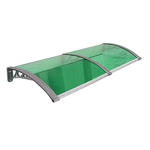 Canopy Door Awning Shelter Front Back Porch Outdoor Shade Patio Roof Door PC Polycarbonate For Front Door Porch (Color : Green, Size : 60cmx120cm)