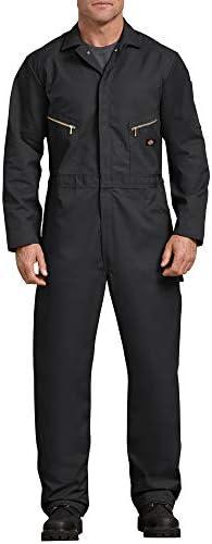 Dickies Men s Deluxe Long Sleeve Blended Coverall Black Medium Regular product image
