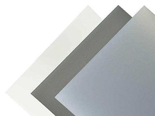 Kunststoffplatte PVC gerippt transparent matt 1,30x194x320 mm