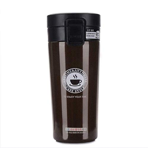 Thermo Beker, Thermos, 380Ml Dubbele Muur RVS Vacuüm Knippert Auto Thermo Travel Mok Draagbare Thermoses Draagbare Drinkware Koffie Thee Thermocup
