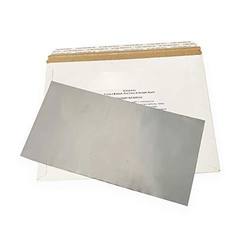 Stick N Repair Cracked Bathtub, Pool Liner, Roof, Skylight, Vinyl Skirting, Siding Repair Kit (Gray)