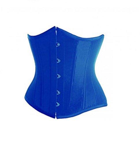 Burlesque - Disfraz de fiesta de Halloween, color azul satinado gtico bajo busto