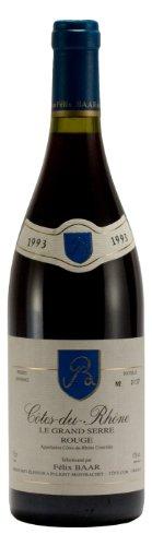 Côtes-Du-Rhône Le Grand Serre Rouge AOC 1993 - Rhône Wein, Frankreich, Jahrgangswein, Trocken