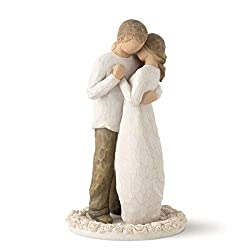 Willow Tree Figure by Susan Lordi Beautiful figures depicting Family and Friendship Carved from wood effect Gift Box Height 15 cm