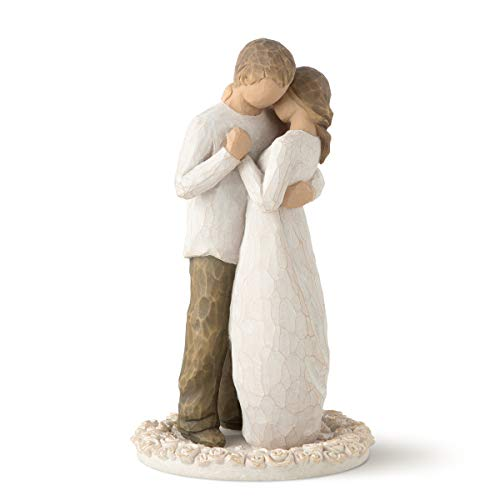 Our #2 Pick is the Willow Tree Promise Hand Painted Wedding Cake Topper