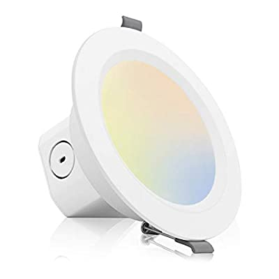 Eneru 4 Inch Ultra Thin LED Recessed Lighting with Junction Box, 2700K 3000K 3500K 4000K 5000K Selectable 9W 80W Eqv Canless Recessed Ceiling Light Dimmable Downlight 620LM ETL Certified