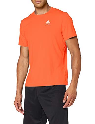 Odlo T-Shirt S/S Crew Neck Cardada pour Homme XXL Rouge-Orange