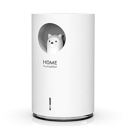 Luftbefeuchter Diffuser, Uong Kreativer 700 ml USB Ultra Leise Raumluftbefeuchter Lufterfrischer Auto Aus mit Buntem Nachtlicht für Büro, Zuhause, Luftbefeuchtung (Bär)