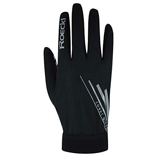 Roeckl Monte Cover 2021 - Guantes de ciclismo (talla 7), color negro