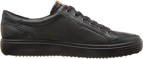 ECCO Mens Soft 7 Long Lace Sneaker, Black, 43 M EU (9-9.5 US)