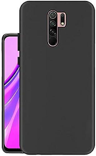 Hello Zone Exclusive Matte Finish Soft Back Case Cover For Xiaomi Mi Redmi 9 Prime Black