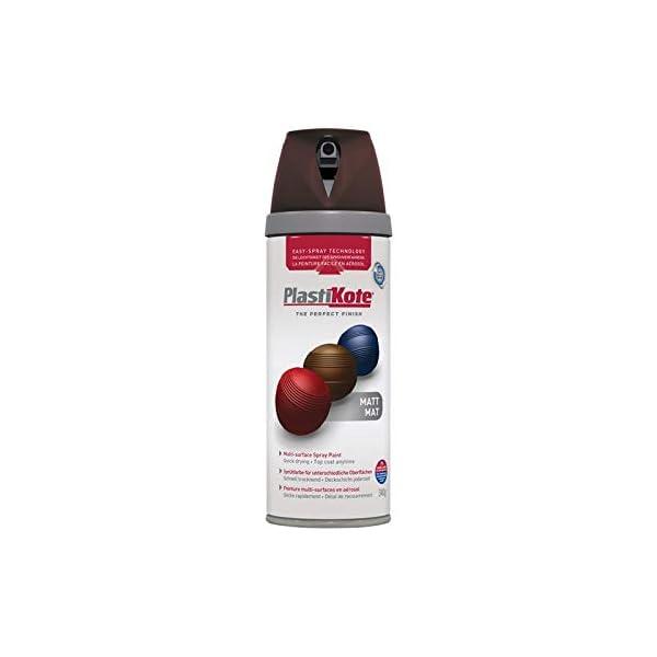 Plasti-kote 23106 400ml Premium Spray Paint - Matt Chocolate