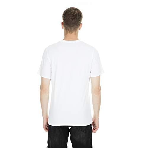 Jack & Jones Jjecorp Logo tee SS Crew Neck Noos Camiseta, Blanco (White Detail: Slim Fit), Medium para Hombre