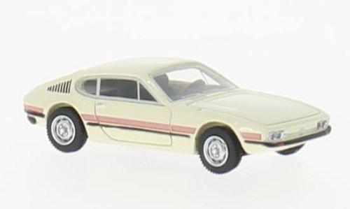 VW SP2, hellbeige/Dekor, 1972, Modellauto, Fertigmodell, BoS-Models 1:87