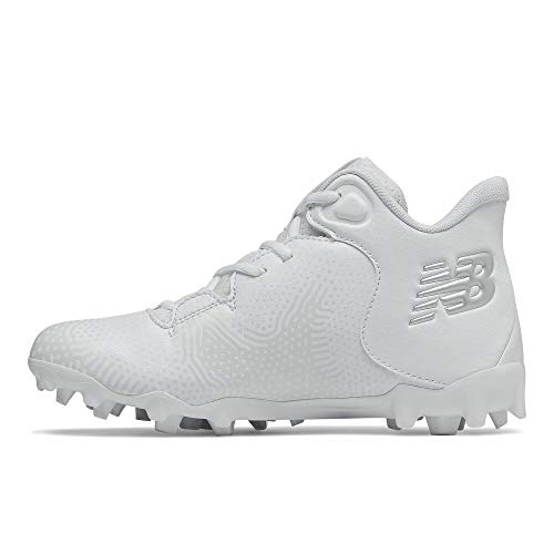 New Balance Boy's FreezeLX V3 Agility Junior Lacrosse Shoe, White/Grey, 5 Big Kid
