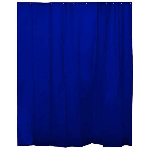 H HANSEL HOME Duschvorhang Navy Blau für Badezimmer mit 12 Ringen, 50prozent Eva-Gummi & 50prozent Polyethylen (180 x 200 cm)