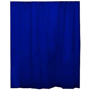 H HANSEL HOME Cortina de Ducha Lisa Azul Marino para baño con 12 Anillas Incluidas, 50% Goma EVA y 50% de Polietileno (180 x 200cm)