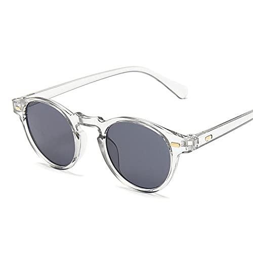 ShSnnwrl Gafas De Moda Gafas De Sol Gafas De Sol De Montura Pequeña para Hombres Gafas De Sol Redondas Vintage Hombres/Mujeres Gafas De Sol Hombres T-G