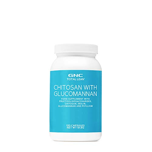 GNC Total Lean Chitosan and Glucomannan, 120 Capsules, Supports Digestive and Colon Health