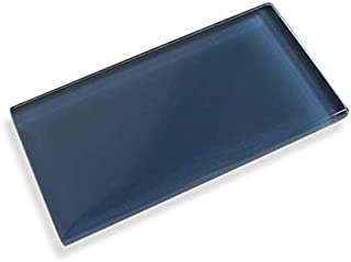 Dark Navy 3X6 Made to Order Glass Subway Tiles - 10 Square Feet