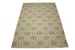 Tela-Teppich Tapis Violet 160 x 230 cm Polyester Coton Tissage Plat