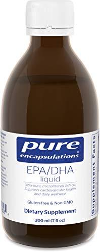 Pure Encapsulations - EPA/DHA Liquid - Ultra-Pure, Molecularly Distilled Fish Oil Liquid - 7 fl. oz. - Lemon Flavor