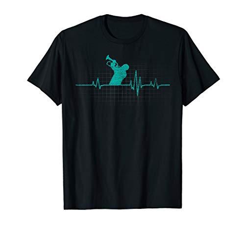 Herzlinie Trompete T-Shirt