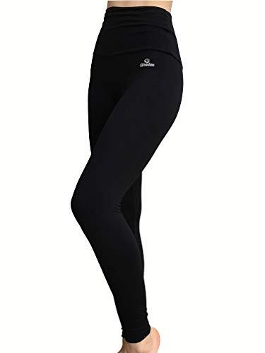 Ginadan Body, Legging Cintura Extra Larga Vientre Plano, Mujer, Negro, XL