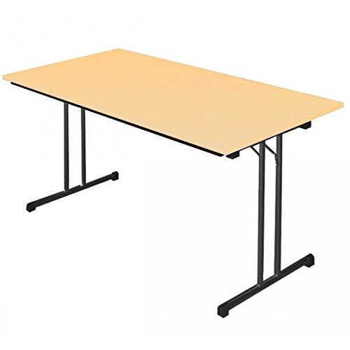 KLAPPTISCH Besprechungstisch Kantinentisch Verkaufstisch Schreibtisch 160x80 Ahorn Dekor 350522
