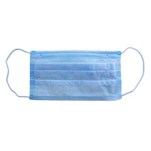 50 x Atemschutzmaske 3-lagig - Mundschutz Maske Einweg Einwegmaske Gesichtsschutz mit Nasenbügel, Ohrenschlaufen - Hypoallergen - 50 Stück