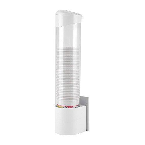 Dispenser per Tazza di Carta, 50 Pezzi Vite a Ventosa a Doppio uso Distributore Bicchieri di Plastica per Casa Ufficio