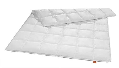 sleepling 197031 antibakterielle Anti Milben Bettdecke (Sanitized®) medium Ganzjahresdecke Steppbett (Füllgewicht: 1.065 gr.), 155 x 220 cm, weiß