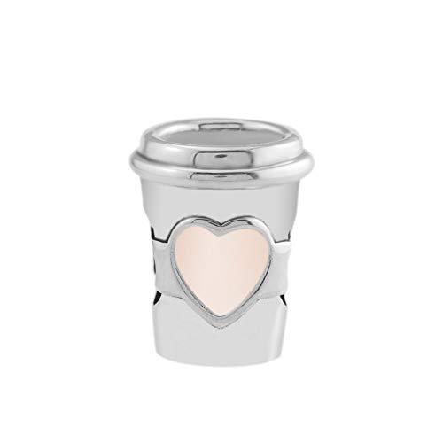 Pandora S925 colgante de joyería de plata esterlina Bebida para ir copo de café charme esmalte rosa prata esterlina jóias ajuste marca pulseira pulseira jóias fazendo para mulher