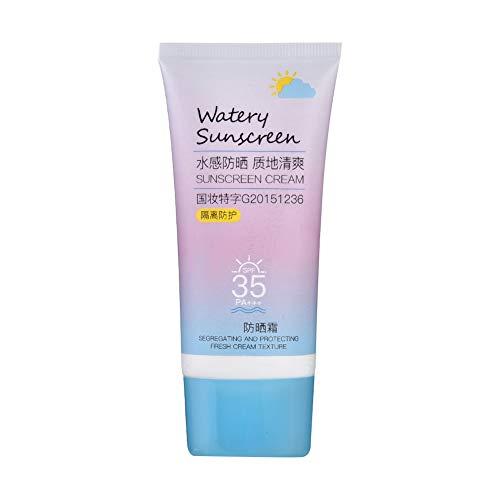 50g SPF35 Protector solar facial transparente UV, protector solar facial Crema protectora Impermeable Protección solar Loción bloqueadora solar facial corporal