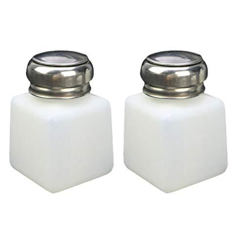 TEHAUX 2 dispensadores de botellas vacías para quitaesmalte de uñas, dispensador de bomba de plástico vacío para desmaquillante de...