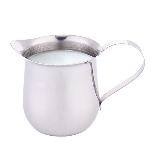 DYL&CDAI Een kleine roestvrijstalen beker melk, gecondenseerde melk drum cup honing siroop beker cup saus, en stabiele gieten lip reliëf schaal, voor een keuken cafe