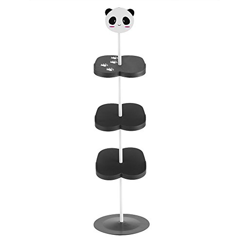Ladieshow 1 Pieza Nuevo Chico niños Dibujos Animados patrón Animal Zapatero Soporte Organizador de Almacenamiento niños niñas(Panda Negro)