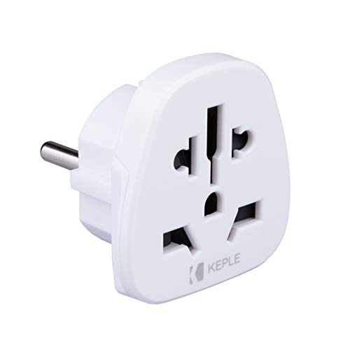 EU Europe Europa European Adapter Stecker Plug Reisen Typ F/C to zu Spanien, Frankreich, Italy Italien IT, German Germany, Denmark Dänemark to UK English, US USA Amerika Adaptor Steckdose 3 Pin