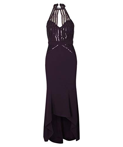 Lipsy London Damen Abendkleid Bordeaux (75) 40