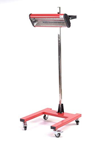 Varan Motors 602023 Infrarot-Lampe für Körper-Trocknung 1100W Infrarot-Lacktrockner 1100W