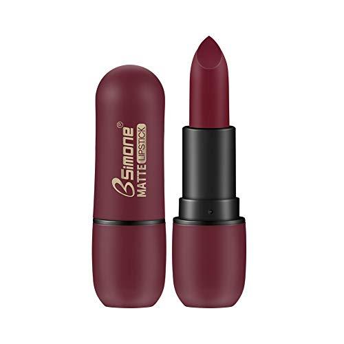 ETbotu Lippenstift - wasserfester,matter Lippenstift,dauerhafter,matter Samtlippenstift 04# Beerenfarbe