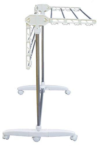 天馬物干しポーリッシュ室内用PS-06ホワイト幅78X奥行67X高さ85~97cm