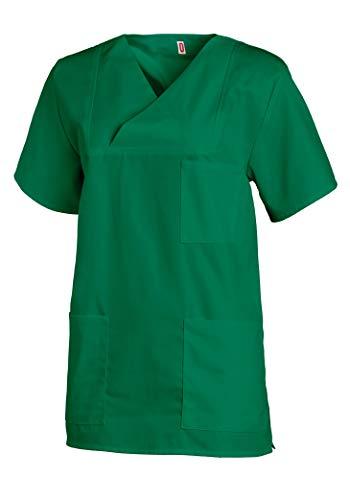 LH OP-Hemd/Bluse, Schlupfhemd, Oberteil, grün, V-Ausschnitt, Größe V = Damengröße ca.54/56 Herrengröße ca. 60/62 BW