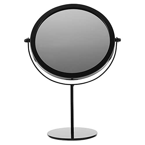 PIXNOR Espejo de Mesa con Soporte de Metal Espejo Giratorio de 2 Lados Espejo de Tocador Marco de Metal Espejo de Maquillaje para Baño Dormitorio